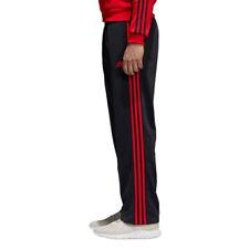 Adidas Essential 3-Stripes Pants Men's Black Red Scarlet CF5074 Training Running