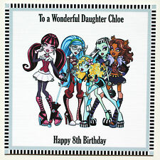 Handmade Personalised Monster High 5th 6th 7th 8th Birthday Card Daughter Niece