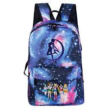 Unisex Sailor Moon Digital Print Backpack School Casual Shoulder Bags