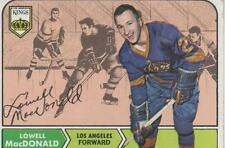 LOWELL MacDONALD SIGNED 1968-69 TOPPS #42 - LOS ANGELES KINGS