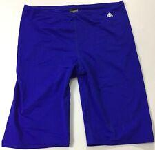 "Adidas Men 11.5"" Solid Infinitex Swim Jammer AMX8620 Blue Size 30"