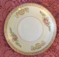 Noritake Morimura M Saucer Only Hand-Painted Floral Green Pink Blue Yellow #4408