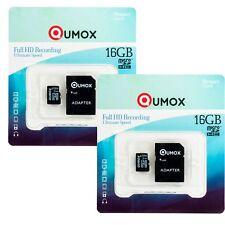 2x QUMOX 16GB MICRO SD MEMORY CARD CLASS 10 UHS-I 16 GB SPEICHERKARTE R