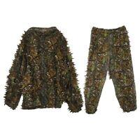 3D Leaf Adults Ghillie Suit Woodland Camo/Camouflage Hunting Deer Stalking F5K4