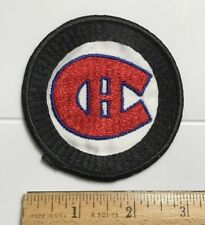 Montreal Canadiens NHL Hockey Team Logo Souvenir Black Round Embroidered Patch