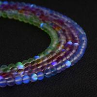 Mystic Aura Quartz Gemstone Loose Beads Natural Quartz Matte Stone 6mm 8mm 10mm