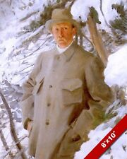 SWEDISH ARTIST ANDERS ZORN PORTRAIT IN THE SNOW PAINTING ART REAL CANVAS PRINT