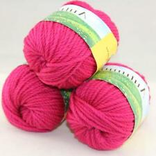 Sale Lot 3 balls x 50g Quick Hand Knitting Yarn Soft Worsted Wool Silk Velvet 13