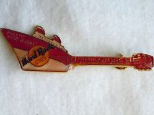 Hard Rock Cafe Singapore Red Over White Ship Guitar Pin
