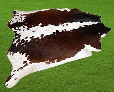 "New Cowhide Rugs Area Cow Skin Leather 26.26 sq.feet (62""x61"") Cow hide U-4536"
