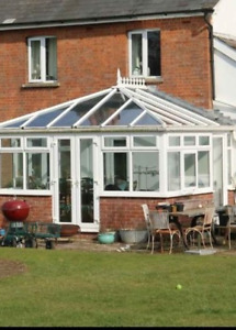 White upvc glass roof (Conservatory)
