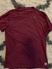Nike Pro Combat Men's Large Dri-Fit Fitted Training Shirt Red