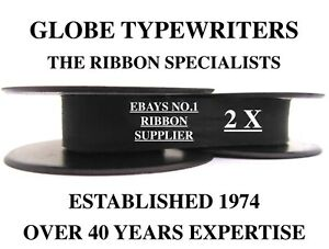 🌎 2 x SILVER REED SILVERETTE *BLACK* HIGH QUALITY TYPEWRITER RIBBONS