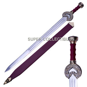 LOTR Herugrim Sword of King Theoden Braso with Scabbard Comes With Wall Plaque