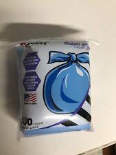 Sassy 100 Disposable Diaper Sacks Bags Baby Powder Scent Tie-Close Control Odors