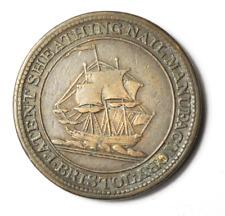 1811 Bristol Half Penny Token London Patent Sheathing Nail 28mm Bronze