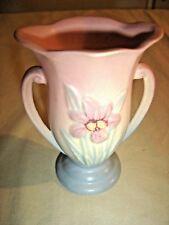Vintage Hull Vase Iris 406-4 1/4 Pink/Blue No chips, cracks or repairs   9398