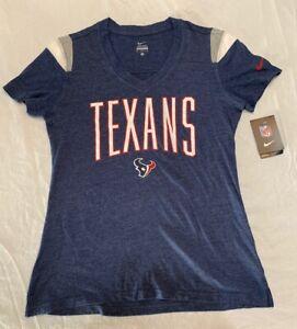 Nike Women's Houston Texans V Neck T-Shirt Team Colors Size Large $45