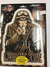 """New Military """"I Want You to Lock --"""" Sticker / Decal Army Navy Marines Air Force"""