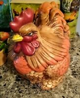 Vintage Cal Original USA 1127 Colorful Ceramic Clay Chicken Rooster Cookie Jar .