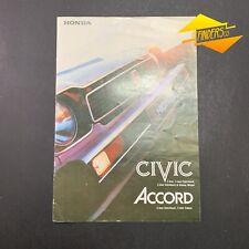 1978 HONDA CIVIC & ACCORD ORIGINAL AUSTRALIAN SALES BROCHURE JAPAN JDM