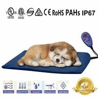 Pet Waterproof Heating Pad Mat In/Outdoor Electric Dog Cat Kitty Chew Resistant