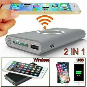 900000mah Wireless Power Bank Pack Backup Battery Charger For All USB Phone