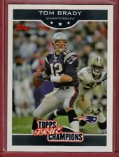 Tom Brady 2006 Topps True Champions Card #8 of 18
