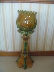 Large Jardiniere Planter and Plant Stand