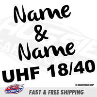 CUSTOM NAME UHF RADIO CHANNEL NUM CARAVAN STICKER Decal Car Vinyl Personalize...