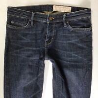AllSaints Mens Apollo pipe skinny Blue Faded Jeans W30 L32 (727a)