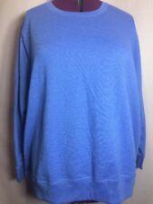 NWOT JMS  5X (30W-32W) Blue Tint Purple Fleece Sweat Blouse Top Shirt EE3