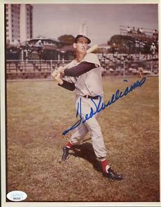 Ted Williams Boston Red Sox Autographed 8x10 Photo JSA BB42558