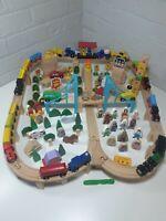 Large Wooden Train Set Bundle fits Brio / ELC Thomas bigjigs approx 180 pieces
