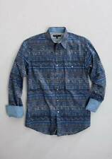 Tin Haul Blue Indigo Aztec Mens Western Long Sleeve Button up Shirt 3xlarge