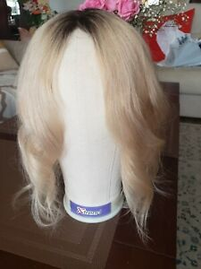 Uniwigs Rooted Creamy Ice Blonde Remi Human Hair Mono Topper Hairpiece