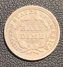 SUPERB AU+ 1853 Half Dime US Silver Coin!