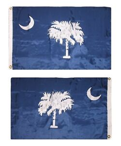 2.5 x 4 ft Embroidered Sewn South Carolina State Nylon Flag Grommets