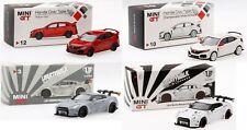 TSM MINI GT 1:64 Honda Civic Type R FK8 / LB Works Nissan GTR R35 Diecast Model