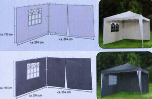 2 Seitenteile für Pavillon 1x mit Fenster 1x mittiger Reißverschluss / NEU!