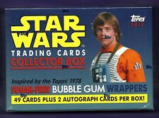 STAR WARS SUGAR-FREE BUBBLE GUM WRAPPERS SEALED BOX INCLUDES SET + 2 AUTOGRAPHS