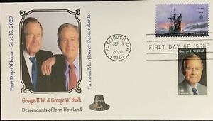 AFDCS 5524 Mayflower Plymouth Harbor President Bush Descendant Howland Combo fe