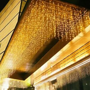 Christmas LED Lights Waterfall Outdoor Curtain String Party Garden Decorations