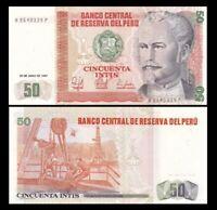 PERU 50 Intis, 1987, P-131b, UNC World Currency