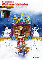 Akkordeon Noten : Die schönsten Weihnachtslieder sehr leicht - Anfänger ED 9363