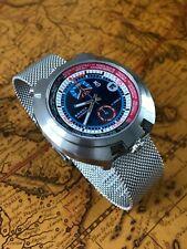Bullhead Retro Racing Automatikuhr Sorna GMT Watch Milanaiseband NOS Style