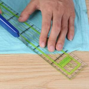 Double-color Ruler Patchwork Feet Tailor Yardstick Quilting DIY Sewing Tool