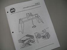 Shopsmith Mark V Alignment & Maintenance Manual covers 500/510/520
