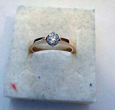 Exklusiver DIAMANT Ring 0,35 ct  585 Gelbgold,  Alle Ringgrößen, Handarbeit