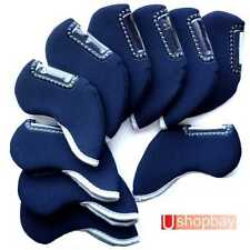 10 X IRON COVERS SUIT CALLAWAY PING TITLEIST  MIZUNO CLUBS BN MATCH GOLF BAG